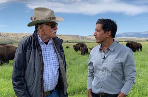 Ted Turner and Sanjay Gupta