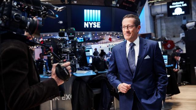 Richard Quest at the NY Stock Exchange