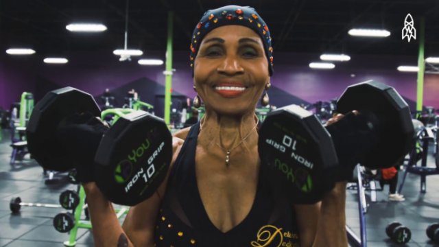 80-year old weightlifter